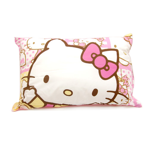 寢具_HELLO KITTY-童枕-哇KITTY-粉