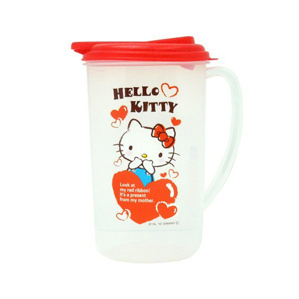 水壼_Hello Kitty-冷水壺-愛心紅