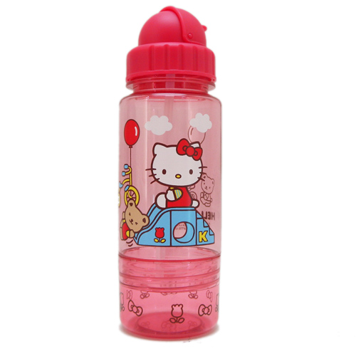 水壼_Hello Kitty-吸管水壺350ML-溜滑梯