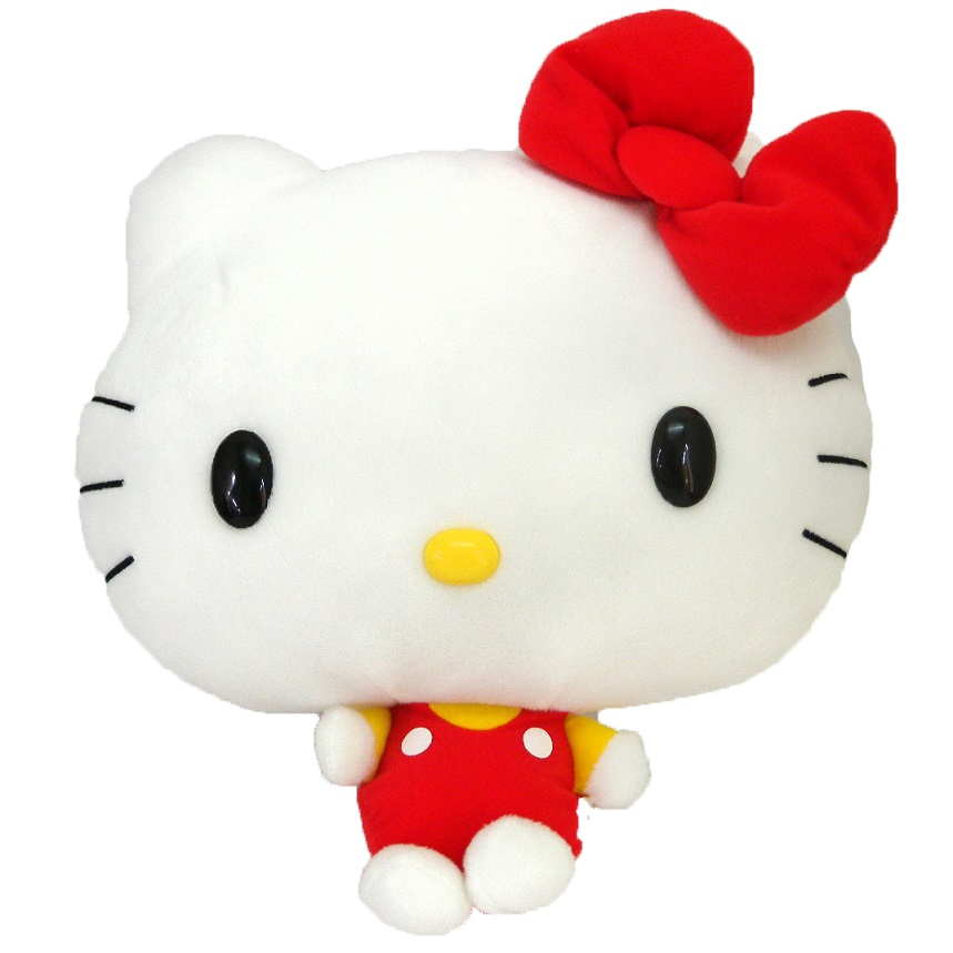 流行生活精品_Hello Kitty-絨毛娃27cm-大頭小身紅