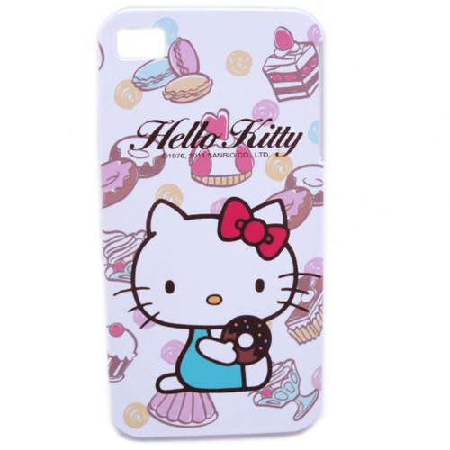 生活日用品_Hello Kitty-IPHONE 4硬殼-甜甜圈