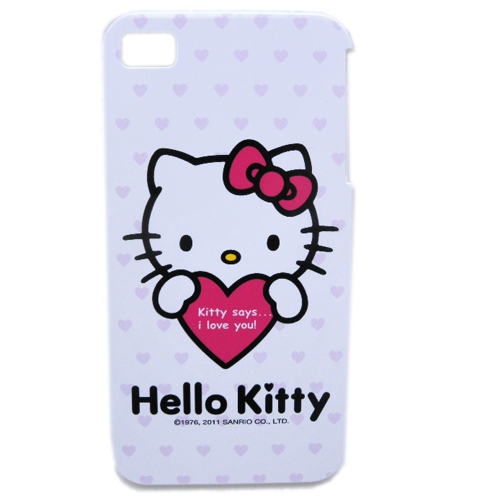 生活日用品_Hello Kitty-IPHONE 4硬殼-抱愛心