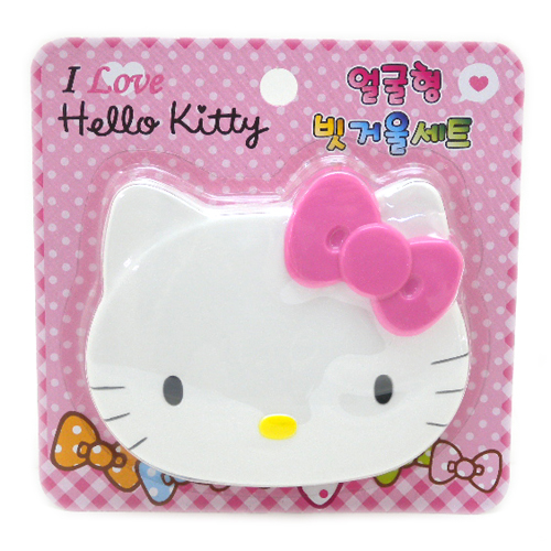 流行百貨_Hello Kitty-頭型鏡梳組-粉結