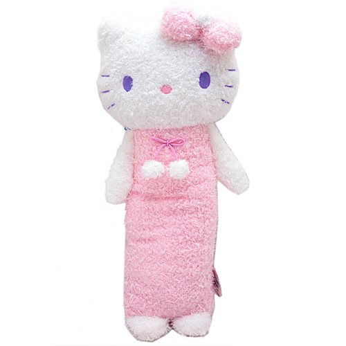 抱枕_Hello Kitty-保暖捲毛長抱枕-天使粉結