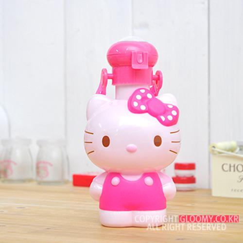 水壼_Hello Kitty- 人形吸管水壺-桃結粉