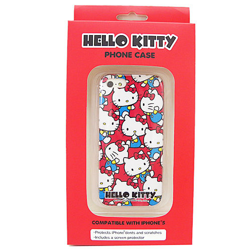 電子3C館_Hello Kitty-IP5手機殼-KT多姿態紅