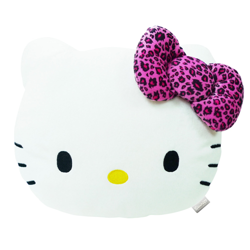 汽車百貨_Hello Kitty-KT豹紋紫-頭型抱枕