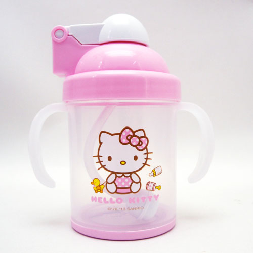 嬰兒用品_Hello Kitty-KT防滑自動吸管杯