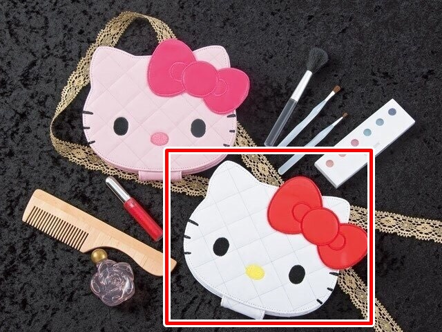流行生活精品_Hello Kitty- 造型亮皮菱格折立鏡-白
