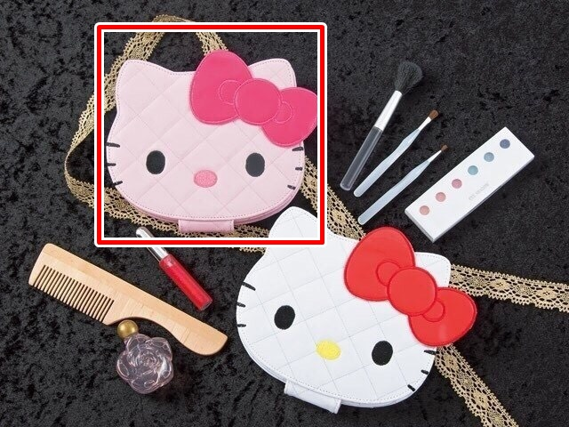 流行生活精品_Hello Kitty- 造型亮皮菱格折立鏡-粉