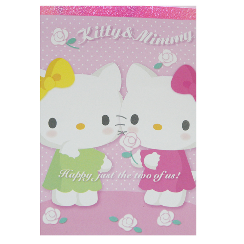 紙製品_Hello Kitty- 便條本-kt&mimmy