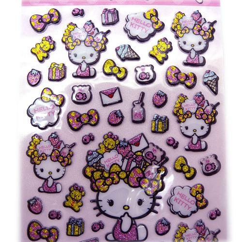 hello kitty-造型立体贴纸-花冠尺寸:颜色:采购数量:建议售价:nt